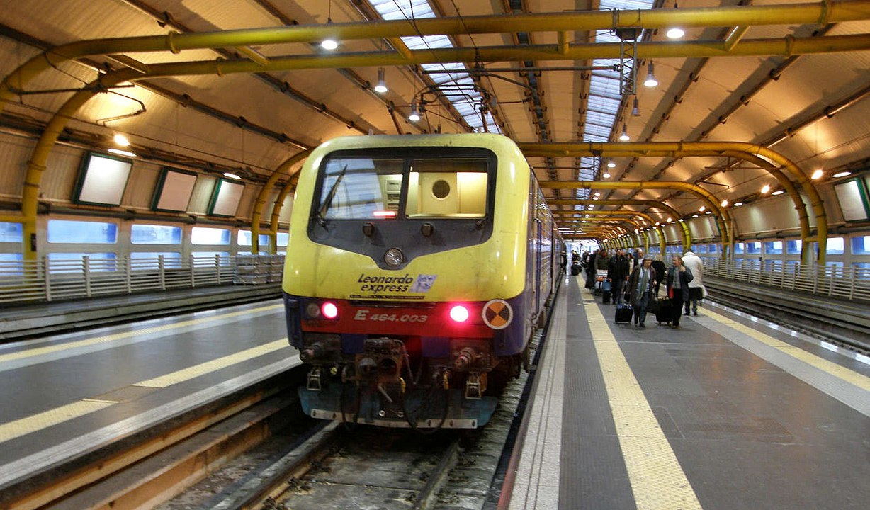 The Leonardo Express is a train service connecting Roma Termini station and Leonardo da Vinci airport